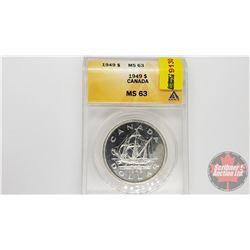 Canada Silver Dollar 1949 (ANACS Cert: MS-63)