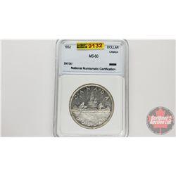 Canada Silver Dollar 1952 (NNC Cert: MS-60)