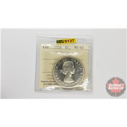 Canada Silver Dollar 1958 (ICCS Cert: MS-62)