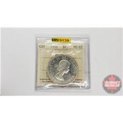 Canada Silver Dollar 1959 Cameo (ICCS Cert: MS-62)