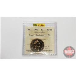 Canada $1 Loon 1991 Numismatic BU (ICCS Cert: MS-66)