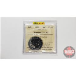 Canada Fifty Cent 1991 Numismatic BU (ICCS Cert: MS-67)