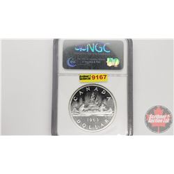 Canada Silver Dollar 1963 Cameo (NGC Cert: PL-65)