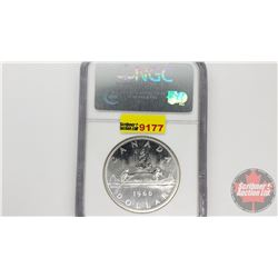 Canada Silver Dollar 1966 Large Beads (NGC Cert: PL-66)