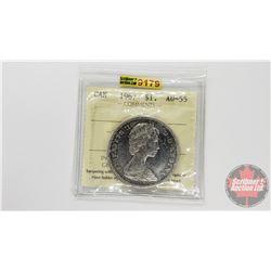 Canada Silver Dollar 1967 (ICCS Cert: AU-55)