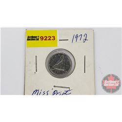 Canada Ten Cent 1972 (Error?)