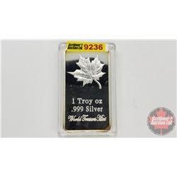 "1 Troy oz .999 Silver ""World Treasures Mint"""