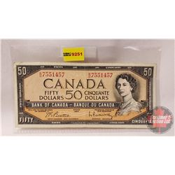 Canada $50 Bill 1954 : Beattie/Rasminsky BH7551457