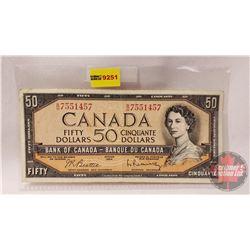 Canada $50 Bill 1954 : Beattie/Rasminsky BH7551457
