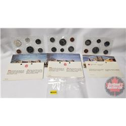 RCM (3) Uncirculated Coin Sets (1976; 1977; 1979)