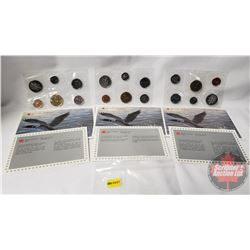 RCM (3) Uncirculated Coin Sets (1988; 1989; 1990)
