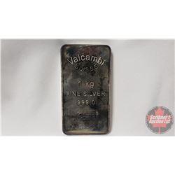 Valcambi Suisse 1 kg Fine Silver 999,0 CHI Essayeur Fondeur S/N#AA002524