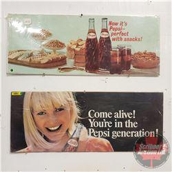 "Pepsi Advertising - Paper (2) : 28""L x 11""W"
