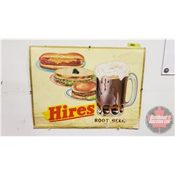 "Hires Rootbeer Cardboard Advertising (Hotdog/Sandwich/Burger) (18"" x 24"")"