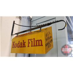 """Kodak Film"" Double Sided Sign - Metal on Bracket (14"" x 21"")"