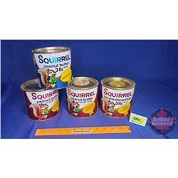 "Squirrel Peanut Butter Tins (4) (5"" x 5"")"