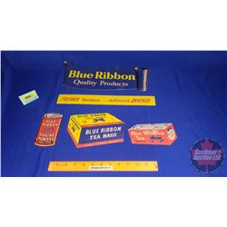 Blue Ribbon Mobile Cardboard Store Advertising (5pcs) (Double Sided)