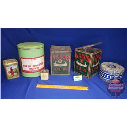 Tea & Coffee Tin Combo (5): Incl. Nabob, Tetley, Ram Lal's & Twinings