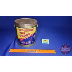 "Biscuit Pail ""Red Arrow Cream Sodas"" (7""H)"