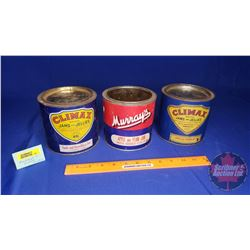 "Jam & Jelly Tin Combo (3): Murray's and Climax Brands (5""H x 5""Dia)"