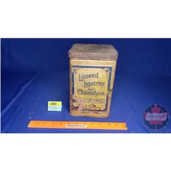 """Linseed Liquorice and Chlorodyne Lozenge"" Tin (9"" x 5-3/4"" x 5-3/4"")"