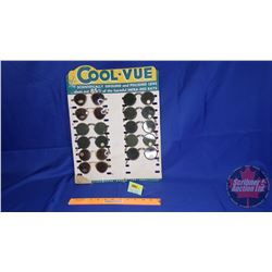 "Store Display Card ""Cool-Vue"" Sunglasses comes with 11 Pairs of Sunglasses (some damage)"