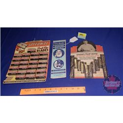 Store Display Cards (3): Ever-Ready; Speedway & Cooks Clip-Rites