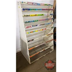 "Store Display Gum & Chocolate Bar Rack (43""H x 30-1/2""W x 16""D)"
