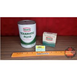 Texaco Texamatic Transmission Fluid Tin - One US Quart & Replacement Fuel Cap