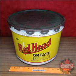 "Red Head Grease Pail (9""H x 11-1/2""Dia)"
