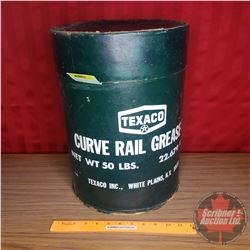 "Texaco ""Curve Rail Grease EP"" Cardboard Drum (16""H x 11-1/2""Dia)"