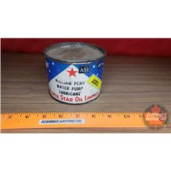 "North Star Oil Limited Water Pump Lubricant Tin (Partial Full) (3""H x 4""Dia)"