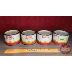 "Shell Grease Tins (4) (All Partial Full) (3""H x 4-1/4""Dia)"