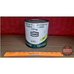"Texaco Grease Tin (6-1/2""H x 6-1/4""Dia)"