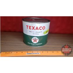"Texaco Grease Tin (5-1/2""H x 6-1/2""Dia) (Partial Full)"