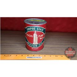 "Empire State Motor Oil - Cardboard Tin (Full) (5-1/2""H x 4""Dia)"