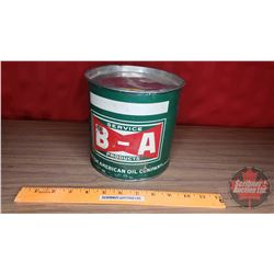 "B-A Grease Tin (6""H x 6""Dia)"