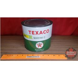 "Texaco ""Marfac O"" Tin (Full) (5-1/2""H x 6-1/2""Dia)"