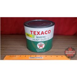 "Texaco ""Marfac Heavy Duty 2"" Tin (Full) (5-1/2""H x 6-1/2""Dia)"