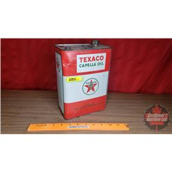 "Texaco Tin ""Capella Oil"" (9-1/4""H x 6-3/4""W x 4-1/8""D)"