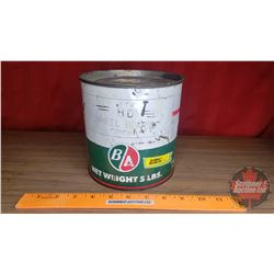 "B-A Tin ""HD Wheel Bearing Grease"" (Partial Full) (6-1/4""H x 6-1/4Dia)"