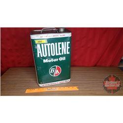 """B-A Tin """"Autoline Motor Oil"""" (Empty) (12-3/4""""H x 8-1/2""""W x 5-1/2""""D)"""