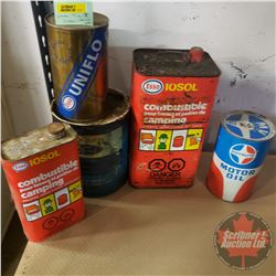 Assorted Tins (5): Incl. Iosol, Uniflo, Royalite, Ford