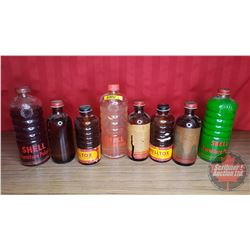 Shell Glass Bottles (3 Furniture Polish & 4 Shelltox)
