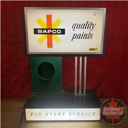 "Bapco ""Quality Paints"" Light Up Store Display Sign (Works) (24""H x 17""W x 9""D)"