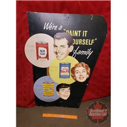 "Store Advertising Sign (32""H) (Cardboard) ""We're a Paint it Yourself Family"" ""Kemalo/Kemtone"""