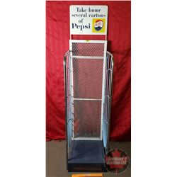"Pop Case Store Display Rack ""Take Home Several Cartons of Pepsi"" c.1960 (62""H x 16""W x 21""D)"
