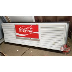 "Coca-Cola Menu Board (Lights Not Working) (27""H x 75""L x 7""D)"