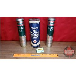 Texaco Grease Tubes (2 Full) Texaco Tire Inflator Puncture Sealer (Full)