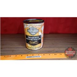 "Harley Davidson Premium 2 Oil Tin (Cardboard) (5-1/2""H x 4""Dia)"